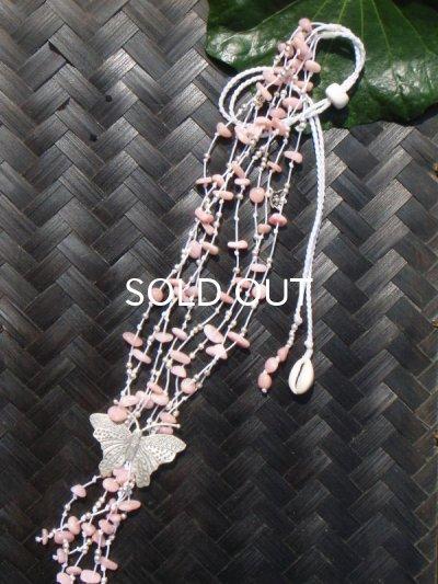 画像1: ピンクオパール×カレンシルバーネックレス